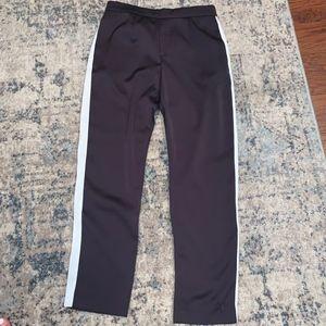 NWOT - Navy Blue Satin Pants w/ White Stripe